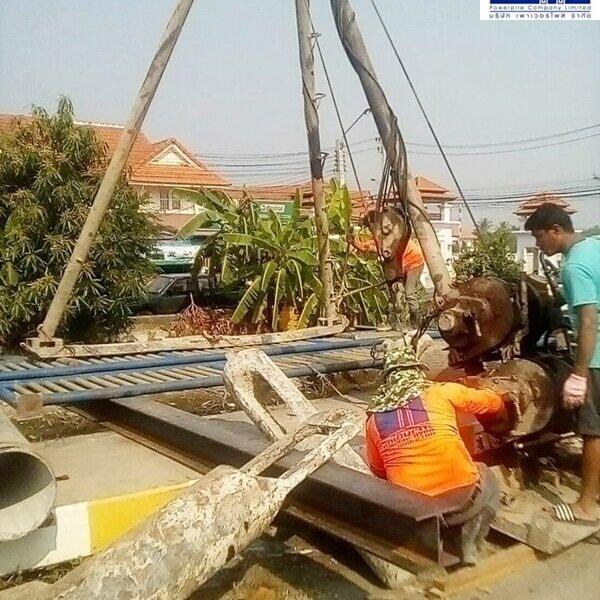 เสาเข็มเจาะ ขนาด 35 ซม. ทำศาลารอรถประจำทาง คลองถนน บางใหญ่ นนทบุรี -3