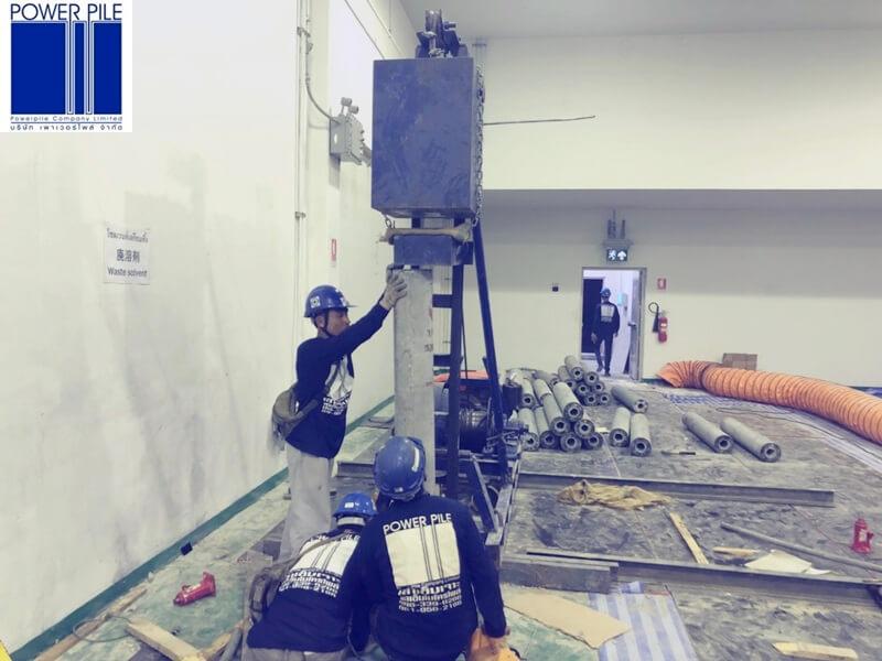 บริษัท รอแยลแคน อินดัสทรีส์ จำกัด จ.สมุทรสาคร เสาเข็มสปันไมโครไพล์ DIA. 20 cm. จำนวน 17ต้น