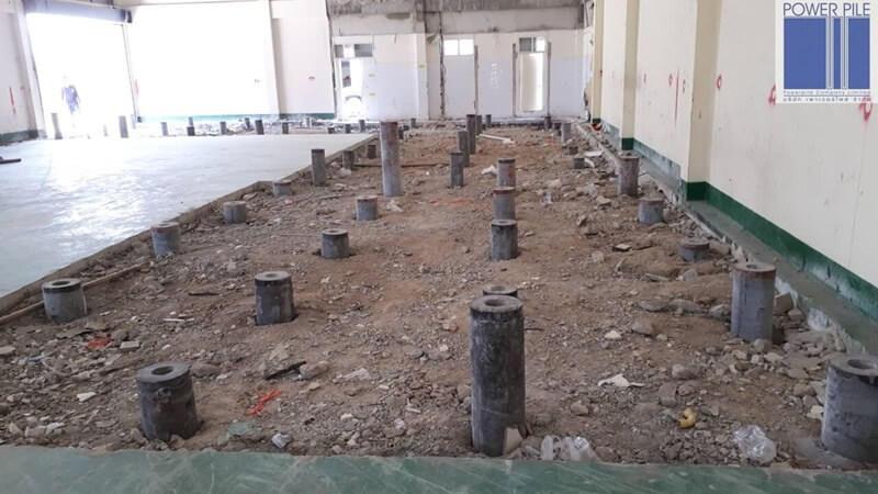 ฐานรองรับเครื่องจักร นิคมอมตะนคร ชลบุรี เสาเข็มสปันไมโครไพล์และเสาเข็มไมโครไพล์ จำนวน 109 ต้น