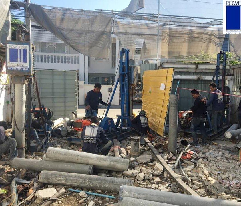 งานก่อสร้างอาคาร ซ.ปุณณวิถี36 กรุงเทพฯ